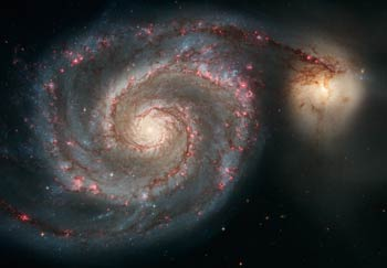 Whirlpool Galaxy (source: Hubblesite)